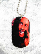 """NEW BOB MARLEY REAL COLOR PHOTO PENDANT 25"""" BALL CHAIN NECKLACE FREE SHIP"""