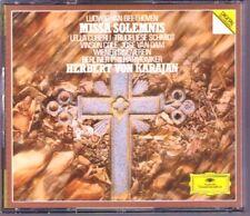 KARAJAN BEETHOVEN Missa Solemnis Lella Cuberli Trudeliese Schmidt Van Dam DG 2CD