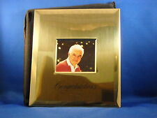 "HOLSON GOLD METAL POST BOUND PHOTO ALBUM 8 1/2""X7""- 3""X5"" PHOTOS  GOLDEN WEDDING"