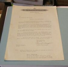1940 REO Motor Car Company Dealer Sales Letter School Bus Catalog Selling Points