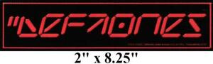 "Rare 2000 Deftones Digital Clock Logo Waterproof Vinyl Bumper Sticker 2"" x 8.25"""