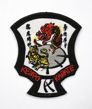 "Kenpo Karate Tiger & Dragon Shield Patch 3"" x 4"" Iron On / Sew On New"