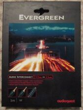 AudioQuest Evergreen Audio Interconnect Cable 3M 10' EVERG03M 3.5mm to 3.5mm