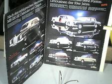 DEPLIANT MINIATURES FALLER ANNEES 80 : gamme 1:43 Mercedes oldtimer 1950/1970