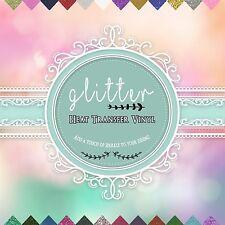 "Glitter Heat Transfer Vinyl (HTV), 12"" x 10"" 15-Color Starter BUNDLE :)*"