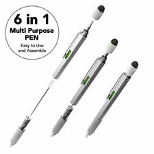6 in 1 Handy Pen Multi Tool Gadget Stylus Ruler Screwdriver Spirit Level Pen
