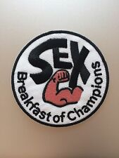 Sex Breakfast of Champions Patch - Iron On Funny Comic Aussie Biker - Badge