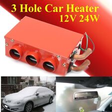 Us 12V 24W Car Vehicle Heater Defroster Demister Portable 3 Hole Heating Cooling