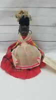 Vintage Pin Cushion Doll Americana Jamaican Celluloid Plastic African American