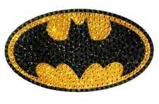 DC HEROES CRYSTAL BATMAN LOGO LARGE VINYL STICKER NEW SEALED #sapr16-105