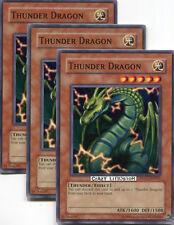 3 X YU-GI-OH THUNDER DRAGON COMMON NM/MINT DLG1-EN041