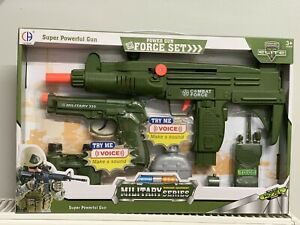 Toy Gun Super Police Army Machine Gun Set Kids Children War Game Toys Uk Seler