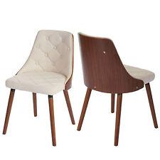 2x chaise de salle à manger Osijek, aspect noix, bois cintré ~ similicuir, crème
