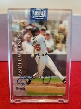 2020 Topps Archives Signature Series Andruw Jones On Card Auto #'d 9/13