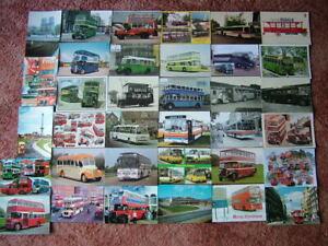35 Unused Postcards of BUSES. Modern size.
