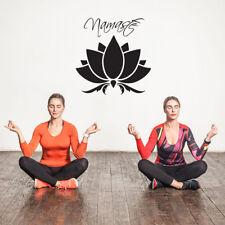 Flor De Loto Namaste Pared Adhesivo Pared Arte Pegatina de inspiración-Yoga