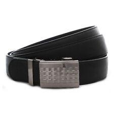Herren Gürtel Jeansgürtel mit Automatik Schnalle Übergröße 160cm Belt NEU