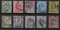 KEVII Selection(10)-With Values To 9d.&10d.  Fine/Very Fine Used.  Ref.0855