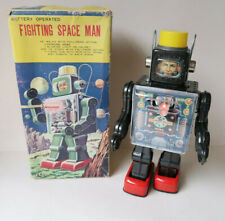 Horikawa Fighting Space Man Robot à Piles 29 Cm Batt Op Japan Neuf Boite 1967