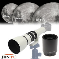 JINTU 500mm 1000mm f/8.0 Telephoto Lens & Case Kit for Canon EOS DSLR Cameras