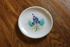 "Westmoreland Beaded Edge Luncheon Plate GRAPES and Leaves 7 3/8"" wide"