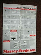 Massey Ferguson MF265/275/290 Tractor Service Wall Chart. MINT