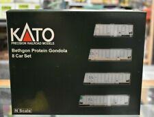 N Scale Kato 106-4653 * Bethgon Protein Gondola, SBTX #2, 8 Car Set