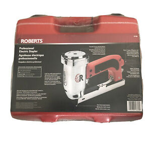 """ROBERTS 10-600 3/16"""" Crown 120V 15-Amp 20 Gauge Electric Stapler with Carryin..."""