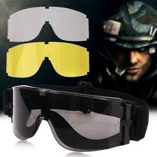 UV Anti-fog Military Airsoft Tactical Goggles Sunglasses Army Paintball Goggles