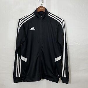 Adidas Training Activewear Striped Sleeve Black Track Jacket Size Medium