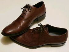 Mens Kenneth Cole Reaction Brown Wingtip Oxford sz 11 (7)