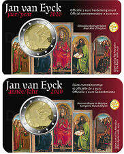 VVK - 2 x 2 Euro Belgien Coincard 2020 - Jan Van Eyck - Wallonisch + Flämisch