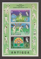 ANTIGUA #299a Souvenir Sheet. 1972 RISING SUN, CRICKET CLUB