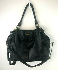 Timi & Leslie Diaper Bag Tote Purse Black Leather