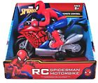 RC Spiderman Motorbike - Marvel - Remote Control - High Speed 27MHZ NEW In Box