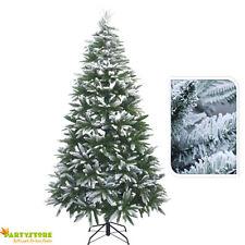 albero di natale  210 cm innevato artificiale folto pino abete neve realistico