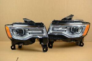14 15 16 Jeep Grand Cherokee Headlight Set Pair OEM LH+RH Pair