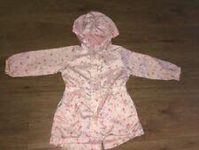 Primark Pink Floral Hooded Waterproof Summer Jacket 18-24 months
