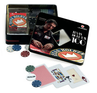 JUEGO SET TEXAS HOLD'EM 100 FICHES LUCA PAGANO  Scatola metallo CARTE e DEALER