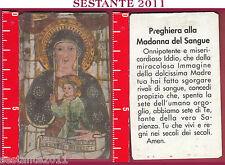 2912 SANTINO HOLY CARD PREGHIERA ALLA MADONNA DEL SANGUE