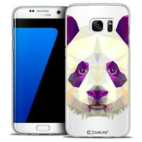 Coque Housse Etui Pour Galaxy S7 Edge Polygon Animal Rigide Fin Panda