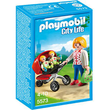 Playmobil Mother with Twin Stroller Mamá y Carrito Gemelos 5573 Baby Mom Infants