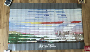 Vtg Los Angeles 1984 Olympics Poster 34x21- Stars In Motion