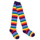 Women Knee Thigh High Socks/Arm Warmer Gloves with Striped for Party Cosplay