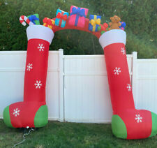 Home Accents Holiday 9 Ft Lighted Stocking Archway Airblown Christmas Inflatable