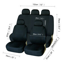 Car Seat Cover Full Set Front Rear Headrest Auto Protector for Car Truck Suv Van (Fits: Saab)