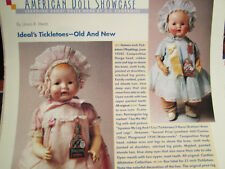 3pg Ideal's TICKLETOES Doll History Article / Ursula Mertz