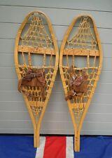 Childrens antique vintage en bois Canadien Raquettes à neige chalet de ski décoration