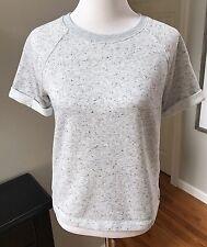 Old Navy Grey Short Sleeve Sweatshirt Athleisure Women's Size XS Extra small
