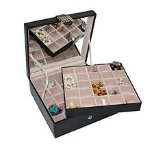 Earring Organizer Classic 50 Section Jewelry Box Case Holder for Earrings Rings